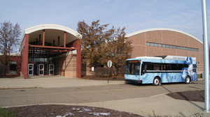 SARTA Fuel Cell Bus At Alliance Middle School