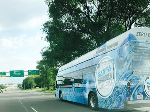 SARTA Fuel Cell Bus on the Road